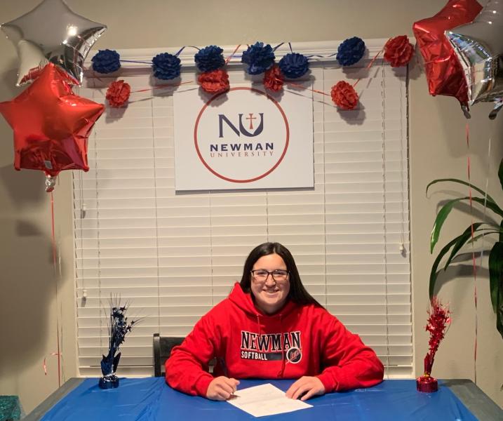 Zoe Signing at Newman University